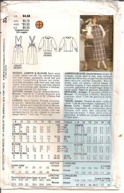Butterick 3398 - Click Image to Close