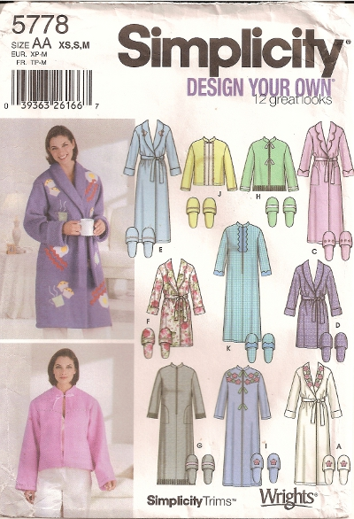 Simplicity 5778 - Click Image to Close